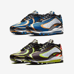 Nike Air Max Deluxe Thunder Blue and Habanero Red