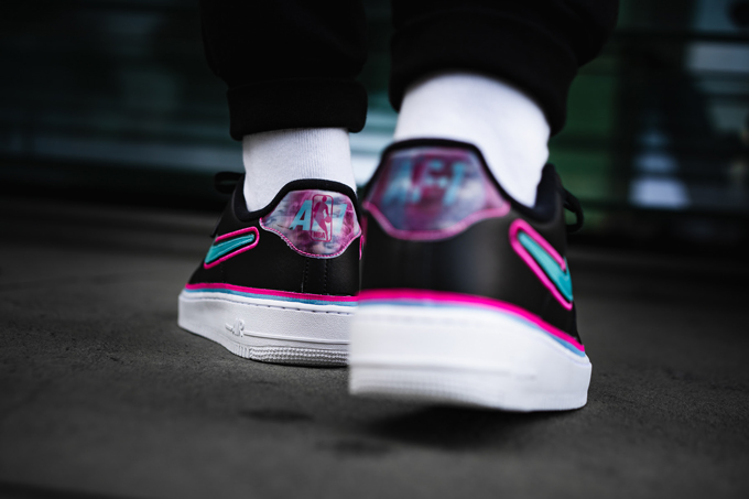 meet 117d8 79afc Nike Air Force 1 07 LV8 Sport Pink  Teal. Images OVERKILL.