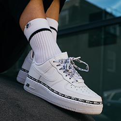 low priced 55327 81dcf Nike Air Force 1 07 SE Premium Overbranded  On-Foot Shots