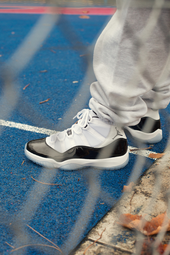 Nike Air Jordan 11 Concord: On Foot Shots The Drop Date