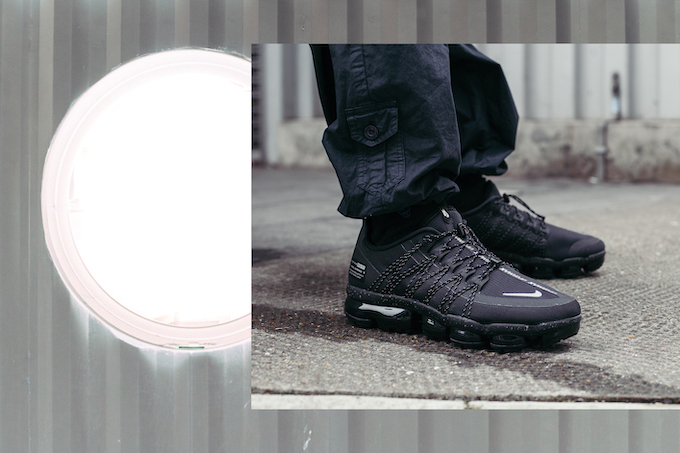 13b3325418d15 Nike Air VaporMax Run Utility Black and Reflect Silver  On-Foot ...