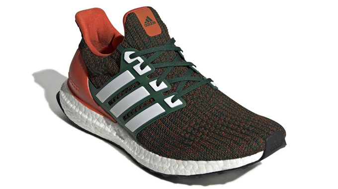 c2ec66f0 The ADIDAS ULTRABOOST 4.0 MIAMI HURRICANES gets decked out in familiar team  colours…