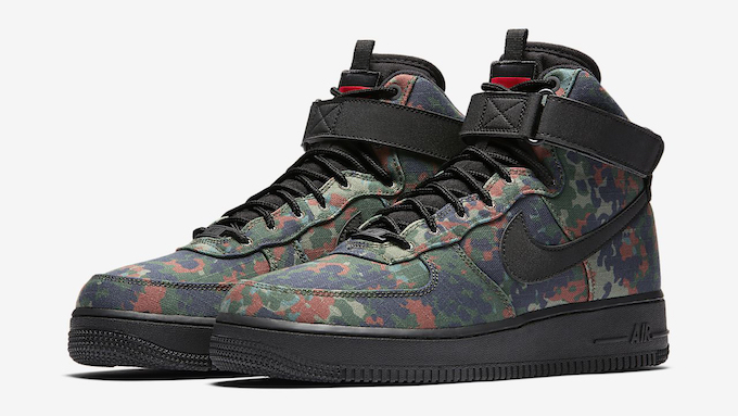 superior quality ac110 fc08a More Country Camo with the Nike Air Force 1 High 07 LV8 Flecktarn Camo