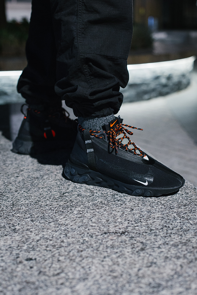 Nike React Runner Mid WR ISPA Black: On-Foot Shots - The Drop Date