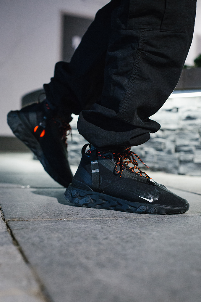 Significado Planta de semillero Similar  Nike React Runner Mid WR ISPA Black: On-Foot Shots - The Drop Date
