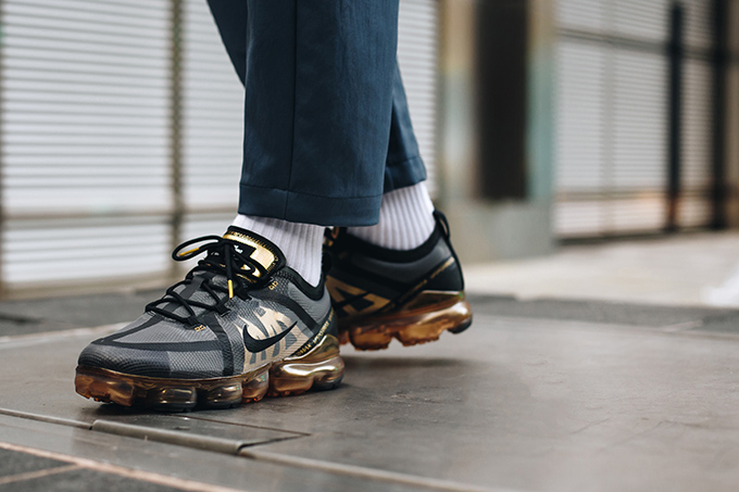 best value latest discount look for Bold in Black and Gold: On-Foot with the Nike Air VaporMax ...