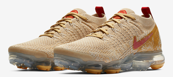 6c329b83976 Red and Gold Galore  Nike Air Vapormax 2 Flyknit Chinese New Year ...