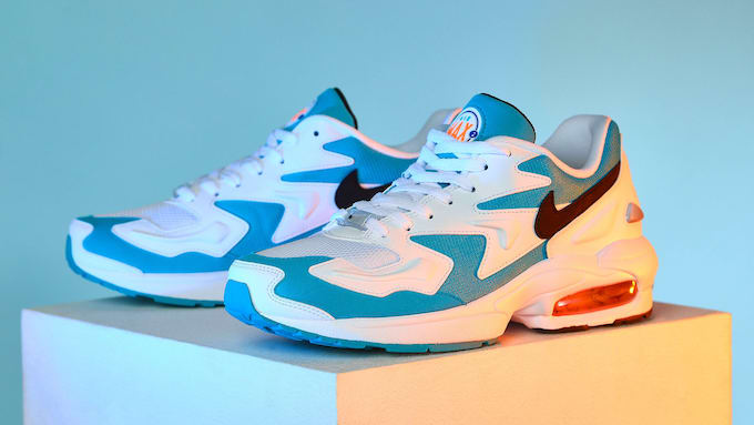 The Nike Air Max 2 Light Blue Lagoon is a '90s Throwback