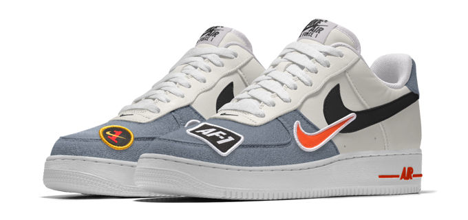 save off 47d7c 18243 The Swoosh goes patch crazy on the NIKE AIR FORCE 1 LOW PREMIUM iD and NIKE  AIR FORCE 1 HIGH PREMIUM iD.