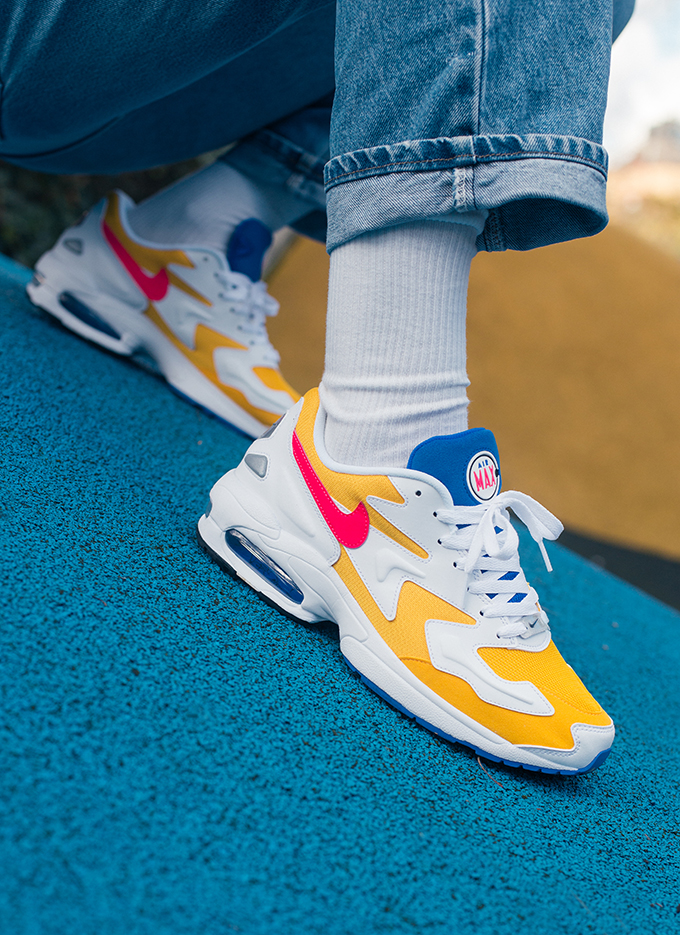 Nike Air Max 2 Light University Gold On Foot Shots The