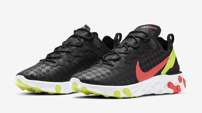 new arrival f4e3d c8e42 Patterned Uppers Hit the Nike React Element 55. May 16th, 2019  News. Element  55