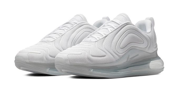 The Nike Air Max 720 Triple White Is as Cold as Ice The