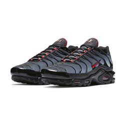 eb22d5650edb42 Fade to Black with the Nike Air Max Plus Wolf Grey and University Red