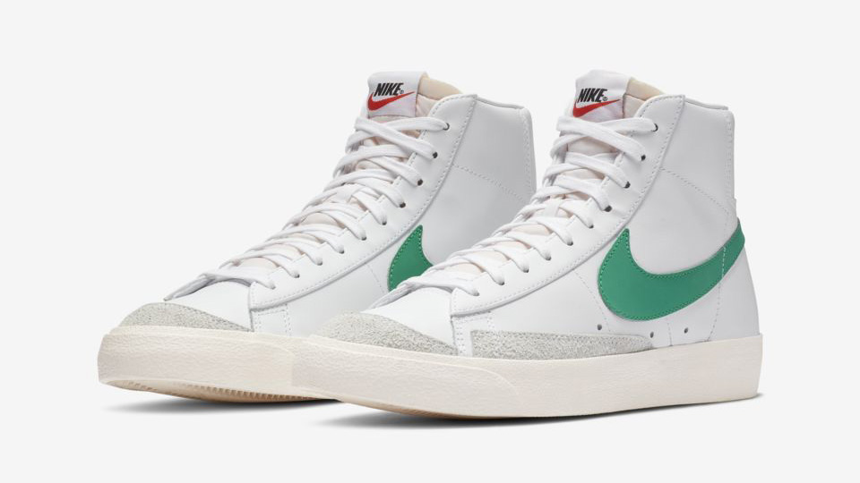 The Nike Blazer Mid 77 Returns in Lucid Green and Habanero ...