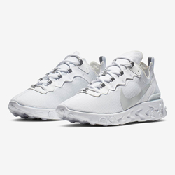 b0b90ada14f4 The Nike React Element 55 Pure Platinum is Truly Iced Out