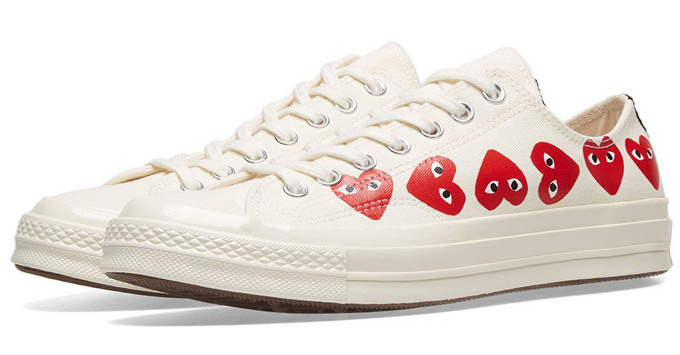 Spread The Love With The Converse X Cdg Play Chuck Taylor