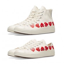 8107a888f68d Spread the Love with the Converse x CDG PLAY Chuck Taylor 1970s Hi and Ox