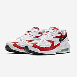 official photos a3164 38b19 The Nike Air Max2 Light Habanero Red Raises the Temperature