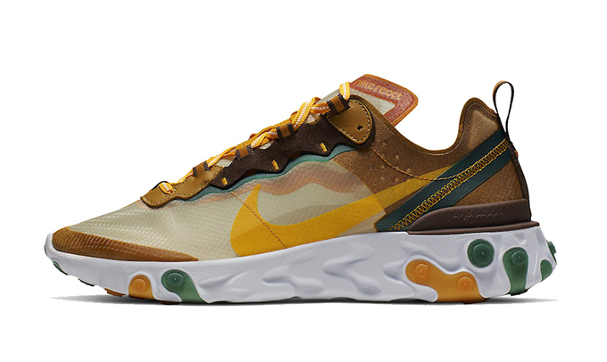 reputable site f94d2 ba108 Nike React Element 87 Pale Ivory Orange Peel