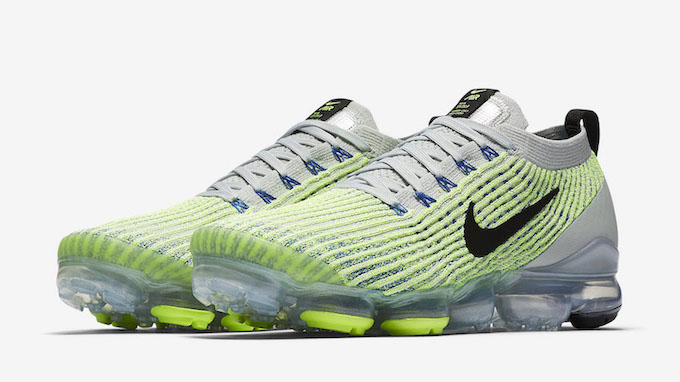 ee47e52f7c95 The Nike Air Vapormax Flyknit 3 Barely Volt is Bold and Bright - The ...