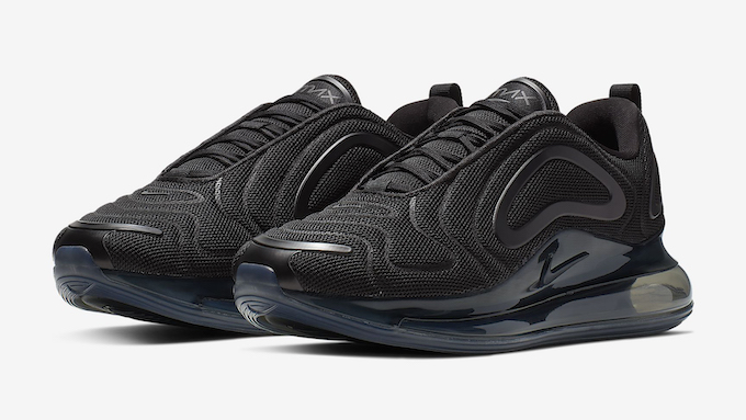 The Nike Air Max 720 Adopts Black Mesh Uppers The Drop Date