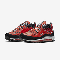 f4d64f38134 The Nike Air Max 98 Adopts a Red Leather Finish