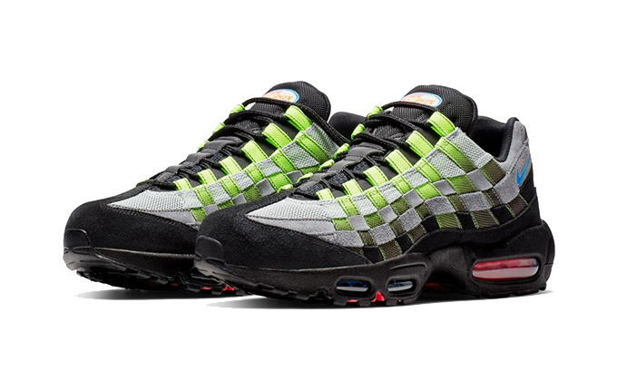 separation shoes 8ab57 cae7c Nike Air Max 95 Woven - Black/Volt/Solar Red - The Drop Date