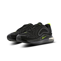 sale retailer 6b59c 28a6d Available Now  Nike Air Max 720 Black and Volt