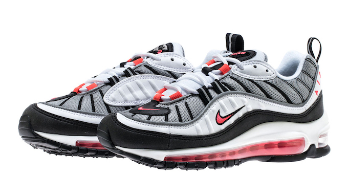 8ff26801f3 Step Back in Time with the Nike WMNS Air Max 98 Solar Red - The Drop ...