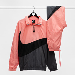 b9ebfb0ebaf6 Shop Now  Nike Sportswear Tracksuit in Black and Pink Gaze