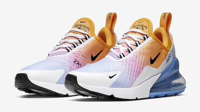 super popular 3a319 63d08 The Nike Air Max 270 University Gold Works a Sunset Gradient ...