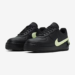758907519ce8 Available Now: Nike Air Force 1 Jester XX Black and Barely Volt