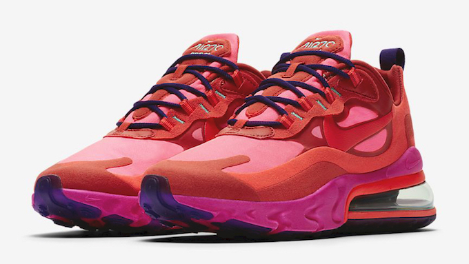 Nike Wmns Air Max 270 React Mystic Red