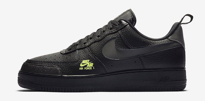 Torbellino Chip nieve  Nike Air Force 1 07 LV8 Utility Black and Volt