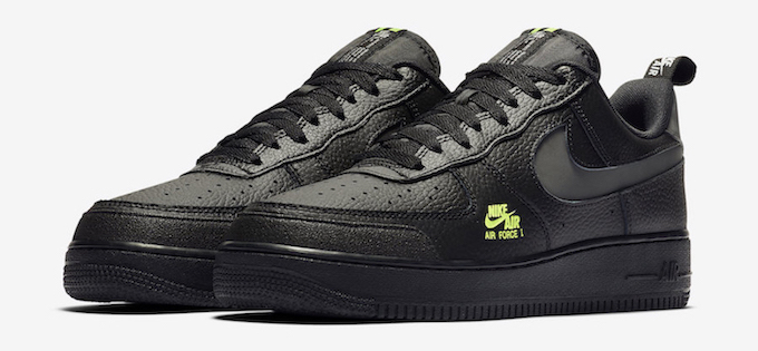 Nike Air Force 1 07 LV8 Utility Black and Volt