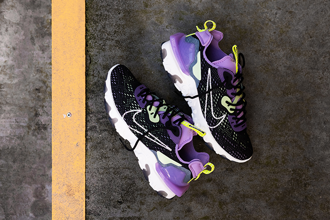 Nike React Vision Gravity Purple and Volt