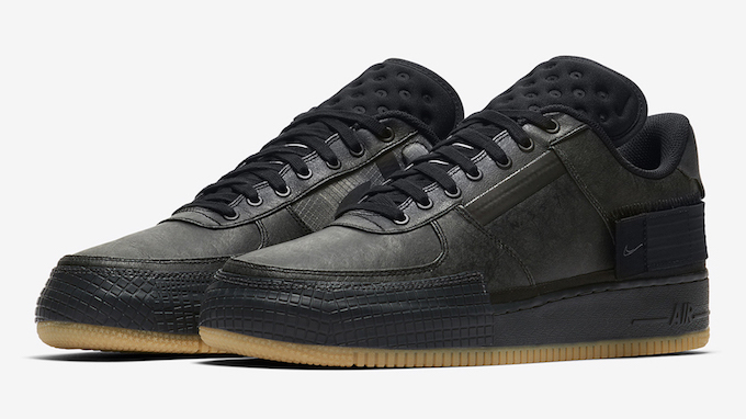 gráfico vocal Extraer  Nike Air Force 1 Type Black