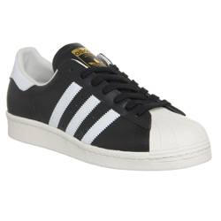 ADIDAS Superstar 80s Black White Chalk Leather