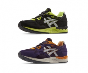 ASICS gel-lyte v 5 goretex gore-tex black green purple orange white f