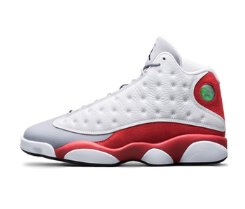 sale retailer b158a e0a7c NIKE AIR JORDAN 13 RETRO - GREY TOE. White / True Red ...