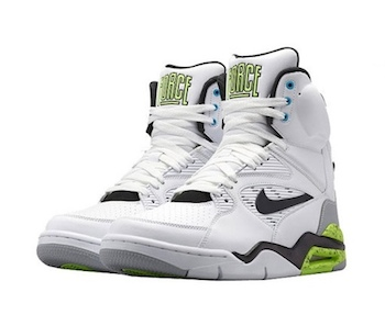 NIKE AIR COMMAND FORCE - White : Black : Wolf Grey : Volt - 684715-100 copy