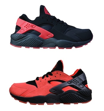sale retailer da455 e5808 NIKE AIR HUARACHE LE - LOVE HATE PACK - Black   University Red - 700878-006  + University Red   Black - 700878-600
