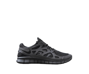 Nike Free Run 2 Black Metallic Silver
