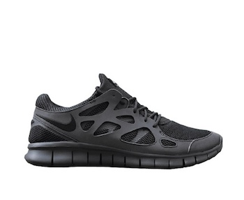 NIKE FREE RUN 2 - TRIPLE BLACK REFLECTIVE - Black / Metallic Silver ...