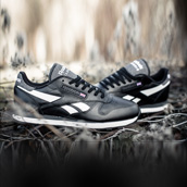 REEBOK CLASSIC LEATHER SC BLACK/WHITE