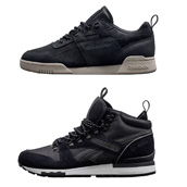 REEBOK WORKOUT WW & GL 6000 MID BLACK WINTER - SIZE? EXCLUSIVE