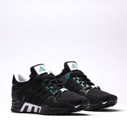 adidas Men's EQT Support 93/17 (Black Grey) KicksUSA