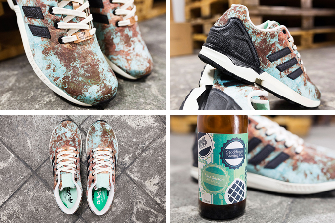 arrives 04d58 a5283 adidas originals brewery pack sneakersnstuff exclusives zx flux aged copper  details