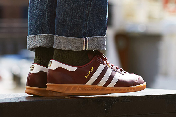 newest collection 976b9 b3088 adidas hamburg collegiate burgundy