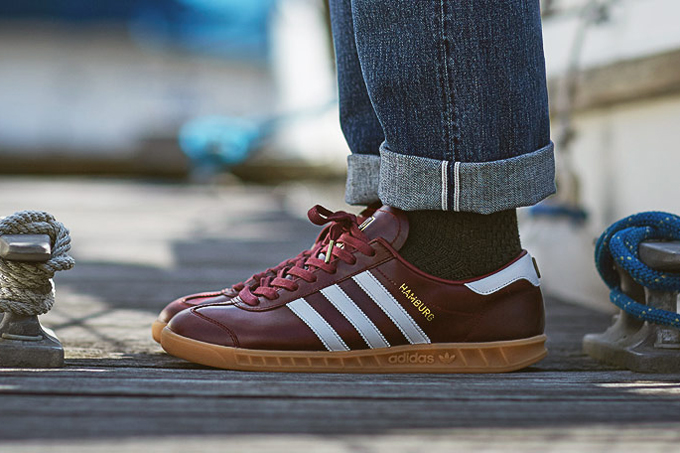 adidas originals hamburg made in germany pack burgundy